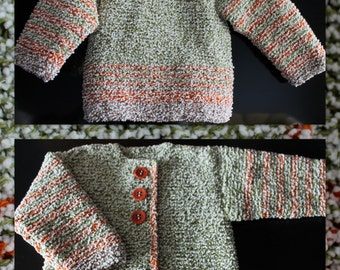 Hand knit cardigan/Baby jacket/girls cardigan/boy jacket/knitted jackets/ hand knit sweater/cardigan for baby/Baby Clothes /Jacket/baby gift