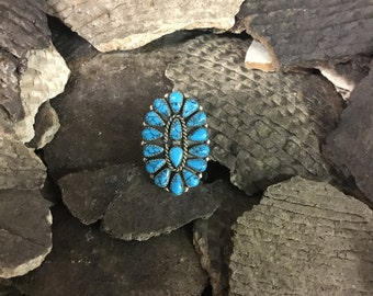 Petit Point turquoise ring
