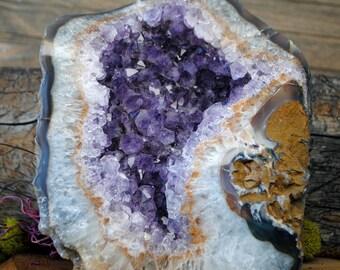 Standing Purple Amethyst Crystal Geode  -  1223.16