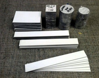 Magnet - White Magnet Strips - Assorted Sizes