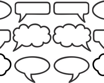 Magnetic Speech Bubbles - Whiteboard Magnets