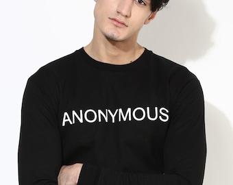 Black Printed Sweatshirt. Black Sweatshirt. Fair Trade Clothing for Men. Men's Sweatshirt. Ethical Fashion.