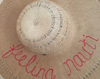 FEELING NAUTI wide brim sun hat