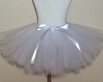 White Tutu with Bow - Girl/Baby Size NB, 3m, 6m, 1T, 2T, 3T, 4, 5, 6, 7, 8, 9, 10, 11, 12