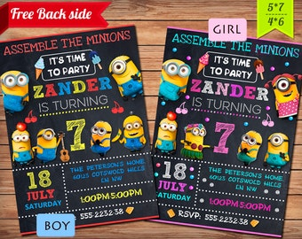 Minion Invitation, Minion Party, Minion Birthday Invitation, Minion Birthday Party, Boy Girl Minion Invitation - Digital, Printable.