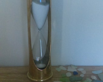 Nautical Decor Brass Hour Glass