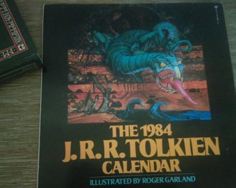 1984 J.R.R. Tolkien Hobbit Calendar