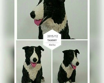 Border Collie Custom Dog Figurine Cake Topper