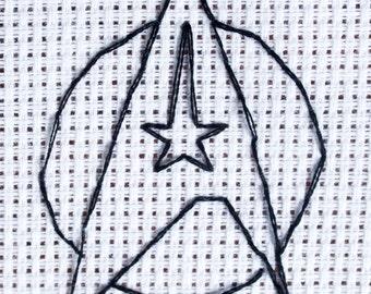 Star Trek Insignia Cross Stitch Pattern