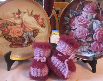 slippers pink and purple birth