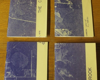 Purple Map Notebook with Edging