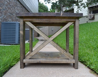 Rustic End Table / Side Table
