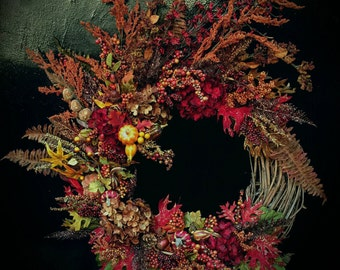 Berry Harvest Fall Wreath from the Rustic Harvest Fantasy Collection