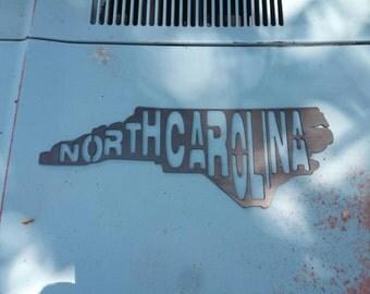 North Carolina metal wall art