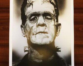 Boris Karloff Frankenstein's Monster ART PRINT