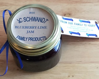Homemade Canned Blueberry Lime Jam Sweet with a Kick