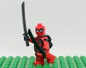 Deadpool Custom minifigure (Lego Compatible) Marvel Comics Superhero Wade Wilson Anti Villain The Red Brick Guy X-Force X-Men Christmas #2