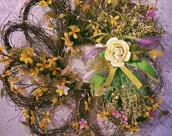 Whimsy Flower wreath
