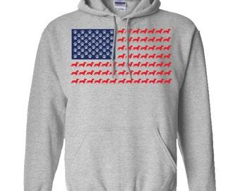 Dachshund American Dachshund Pullover Hoodie