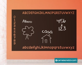 Adhesive Whiteboard-alphabet wall stickers for children