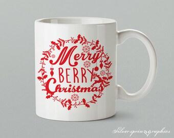 Merry Berry Christmas Mug