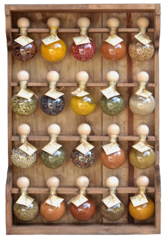 20 bubbles dyed spice racks wood bubbles of spices - Meuble a epice coulissant ikea ...