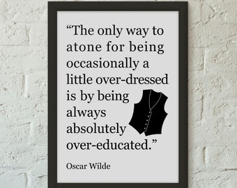 Items similar to every saint has a past oscar wilde for Art and decoration oscar wilde