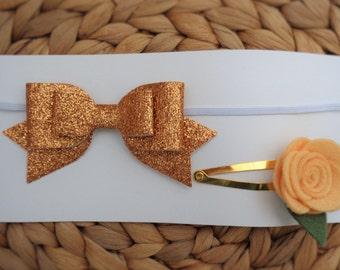 Hair Accessories Set - Bronze