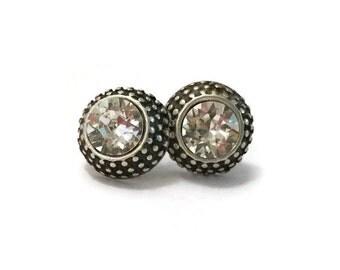 6mm Crystal Dot Stud Earrings