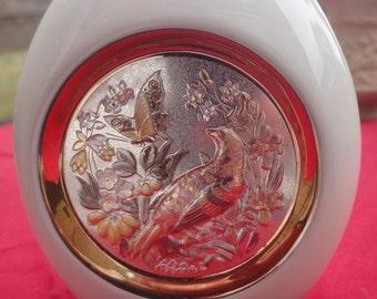 fine 24k gold etched japanese chokin vase height=11cm