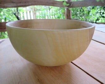Wooden Bowl, Handmade Salad  Bowl, Dough Hand Turned Bowl, Kitchen Decor Rustic, Snack Fruit Bowl, Picnic Bowl ,Serving Bowl, Gift For Her