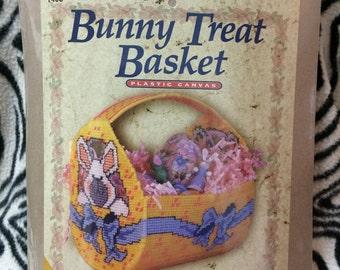 Bunny Treat Basket Plastic Canvas Kit #1408