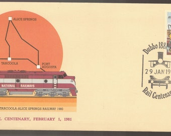 1981 Australia Railway Train DUBBO Rail Centenary with Special Cancels PSE Commemorative Cover Ephemera
