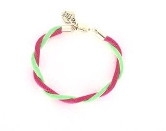 Neon Twist Bracelet (Gold)