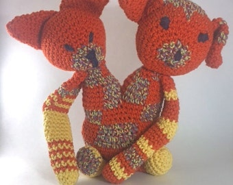 Crochet Toy - Yarn Knarl #5 - Ginger and Rex - Tapestry Crochet Monster