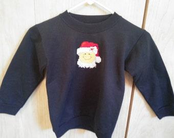 Sweatshirt child's cross stitched small 6-8