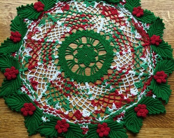 Holly 'n' Lace Doily