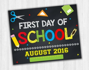 First Day Of School Signs, Chalkboard Signs, Printable Photo Prop, Starting School, 1st Day Of School, Kids School Signs, Grade School Signs
