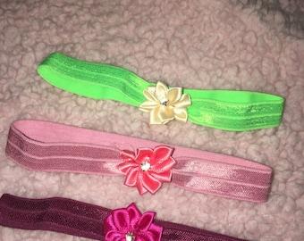 Tiny flower newborn headbands