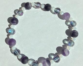Genuine Amethyst bracelet Protection inner strength Clarity