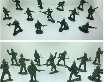 Army Men Toy Soldier Earrings