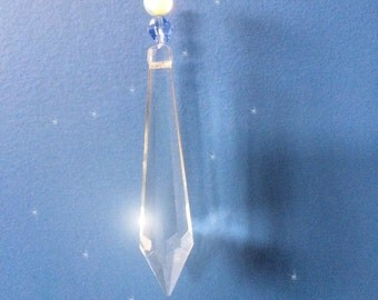 Crystal prism & hearts wall hanging
