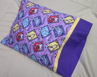 Travel Pillowcase - Disney Princesses Snow White Cinderella. Great Gift for Young Girls. Perfect for Trips or Nap Time.