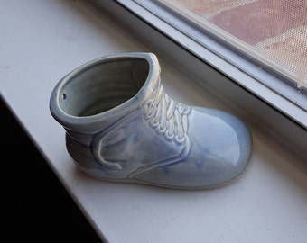 Blue Baby Shoe Planter