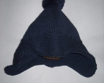 soft Navy knit hat