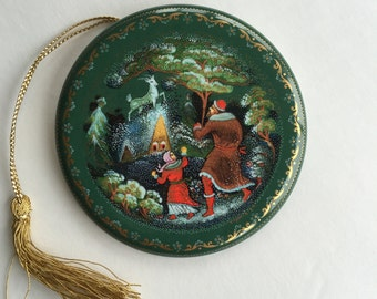 Vintage Russian Fairy Tale Christmas Ornament