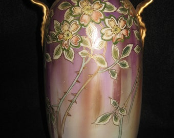 Nicely Decorated Large Nippon Vase