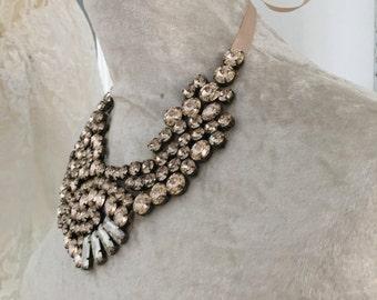 Statement Wedding Necklace, Wedding Jewelry, swarovski crystal necklace, custom made necklace, stunning crystal necklace, Bridal necklace