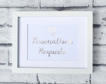 Personalised requests