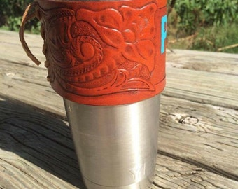 Yeti cup leather wrap